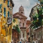 Piero Giovecchi 35×48 Acquerello