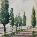 Piero Giovecchi 39×49 Acquerello